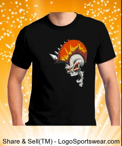 The Punk Rocker Skull Design Zoom