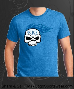 Blue Flame Skull Design Zoom